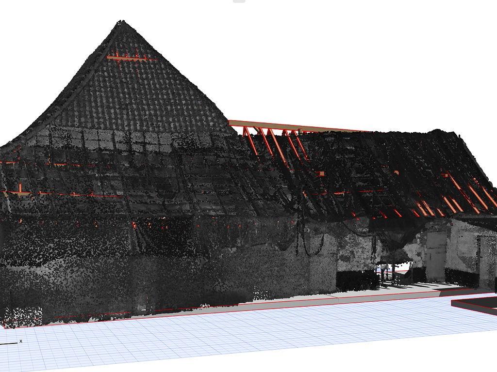 3D model uit pointcloud - pointcloud en model